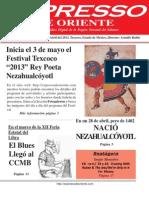 Expresso de Oriente 29 de Abril Del 2013