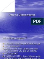 intro to dreamweaver and javascript