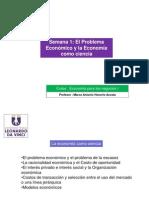 1.-El problema económico y la Economia como ciencia