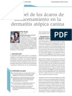 El Papel de Los Acaros de Almacenamiento en La Dermatitis Atopica Canina