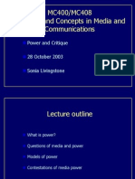 MC400 Power Lecture 2003