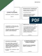 (Dir. Constitucional - slides aulas I e II - Classificação das Constituições