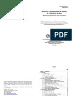 operación y mantenimiento de plantas de tratamiento de agua