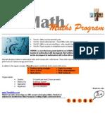 Maths Skills Program