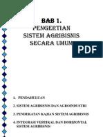 Bab 1 Pengertian Sistem Agribisnis Secara Umum 210213