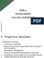Bab 4 Peran Manajemen Dalam Agribisnis