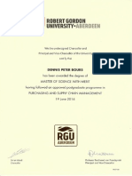 2014 Dennis Bours - Certificate and Diploma Overview