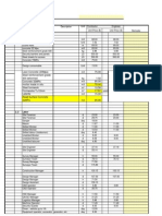 Master List for Labor Eqpt Matls