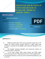 Safety enhanced high step up dc dc converter ac photovoltaic module applications