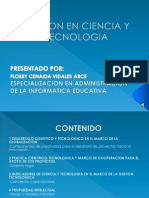 Gestion en Ciencia y Tecnologia Especializacion en La Administracion de La Informatica Educativa