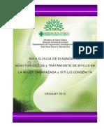 Diagnostico Monitereo y Tratamiento de La Sifilis