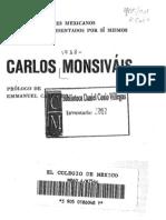 Carlos Monsiváis. biografía precoz
