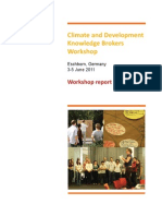 2011 climate knowledge brokers workshop - Final report