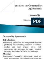 Commodity Agreements