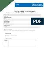 ANNEX XXVI. Project Monitoring Report Template