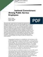 Organizational Commitment Among Public Service Employees