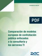 Comparación de modelos europeos de contratación pública enfocados a la consultoría y servicios TI.