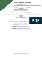 Evolution of Performance Measurement
