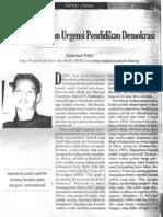 Demokratisasi Dan Urgensi Pendidikan Demokrasi