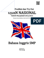 Soal Prediksi UN Bahasa Inggris SMP 2013