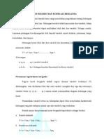 Analisis Regresi Dan Korelasi Dengan Program SPSS