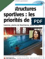 La Nouvelle Gazette - Infrastructures sportives , les priorités de Salvi- 27.04.13