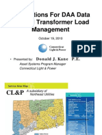 Applications for DAA Data Beyond Transformer Load Management