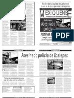 Versión impresa del periódico El mexiquense 29 abril 2013