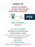 Process of Health Insurance in the Super-Speciality Hospitalh