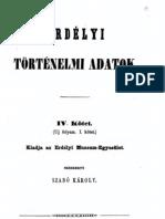 Mikó Imre - Erdélyi történelmi adatok 4.kötet 1862.