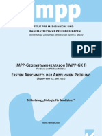 IMPP Gegenstandskatalog Biologie