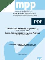 IMPP Gegenstandskatalog Chemie und Biochemie