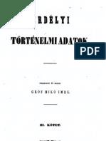 Mikó Imre- Erdélyi történelmi adatok 3.kötet 1858.
