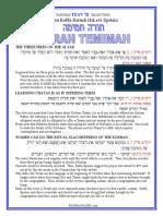 Tzav Selections from Rabbi Baruch Epstein