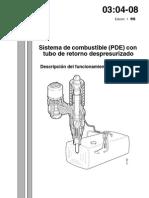 Sistema Combustible PDE Tubo Retorno Despresurizado
