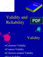 Reliability Validity