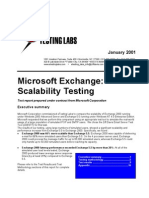 Microsoft Exchange Scalability Testing