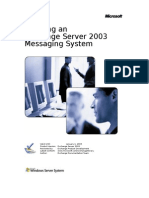 Planning an Exchange 2003 Messaging System
