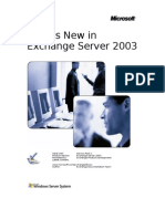 What's New in Exchange 2003