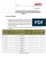 ADR Bangalore Candidates Report_ 2013 Karnataka Elections (1)