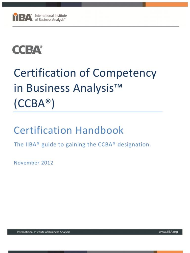 Ccba Handbookpdf Business Analysis Competence Human Resources