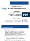 Turbulent Times HRs Role in Managing Change