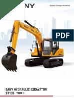 Sany Excavators SY135 Tier 3