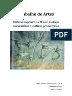 Pintura Rupestre no Brasil-motivos naturalistas e motivos geométricos