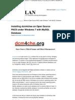 Open Source PACS Under Windows 7