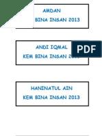 Senarai Nama Kbi