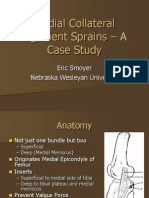Medial Collateral Ligament Sprains – A Case Study