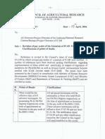ICAR Circular on PhD Increment