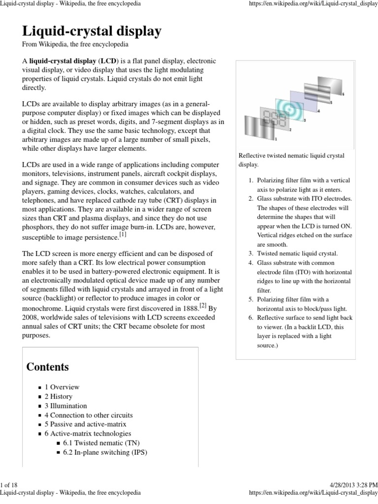 Liquid-Crystal Display - Wikipedia, The Free Encyclopedia