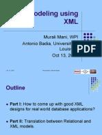 Data Modeling Using XML
